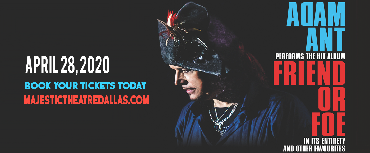 Adam Ant at Majestic Theatre Dallas
