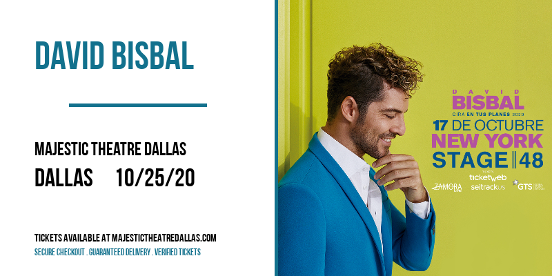 David Bisbal at Majestic Theatre Dallas