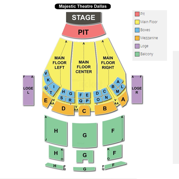 Majestic Theatre Seating Chart Brokeasshome Com